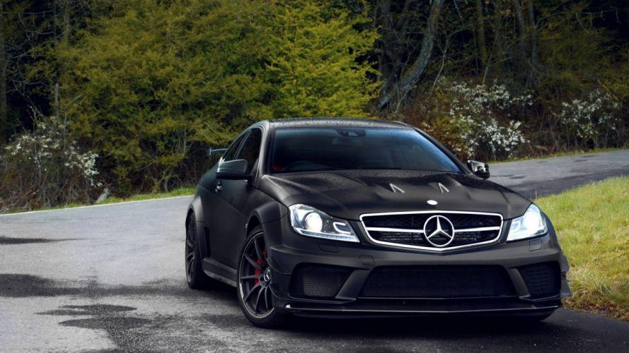 mercedes negro alemania coche wallpaper