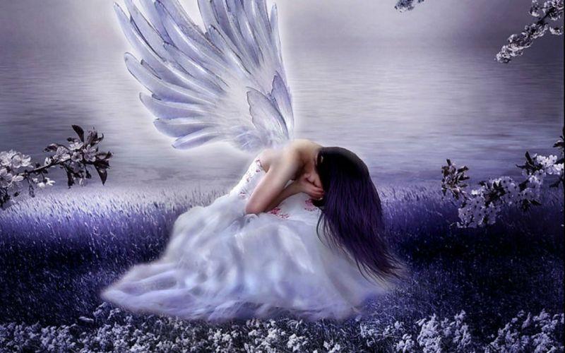 depression sad mood sorrow dark people love angel wallpaper