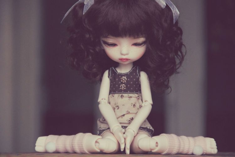 depression sad mood sorrow dark people love doll toy wallpaper
