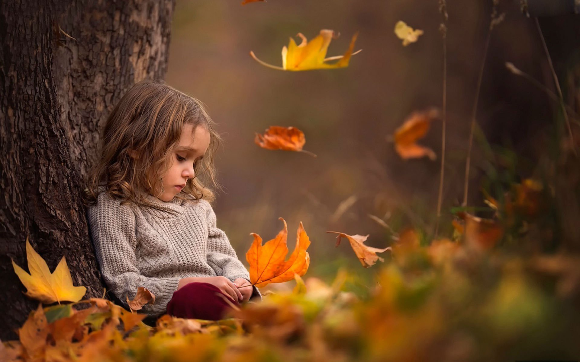 Depression Sad Mood Sorrow Dark People Love Autumn Baby