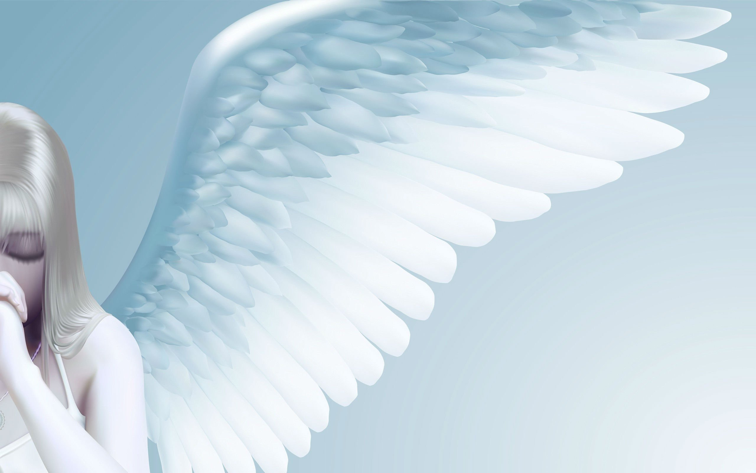 Sad mood sorrow dark people love fantasy angel girl anime wallpaper 2560x1600 806118 - Sad angel wallpaper ...
