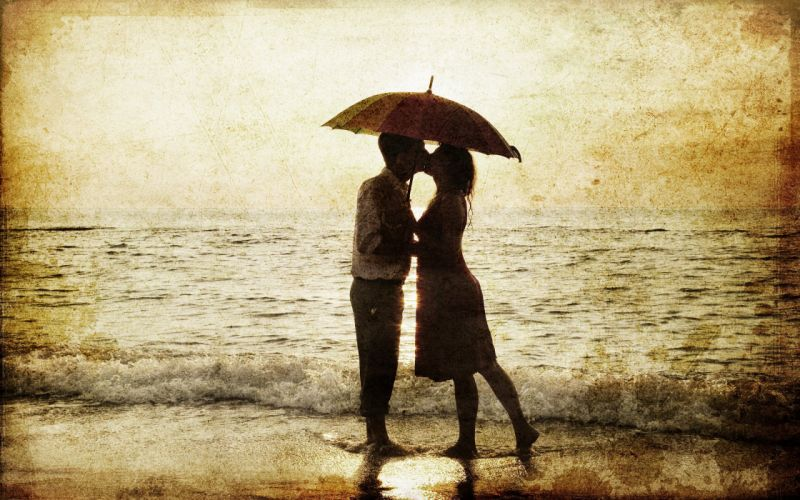 couple love mood people men women umbrella wallpaper