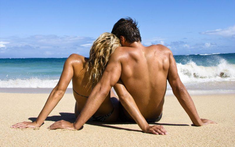 couple love mood people men women beach wallpaper