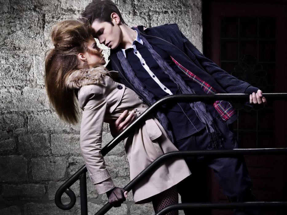 couple love mood people men women fashion model style autumn wallpaper