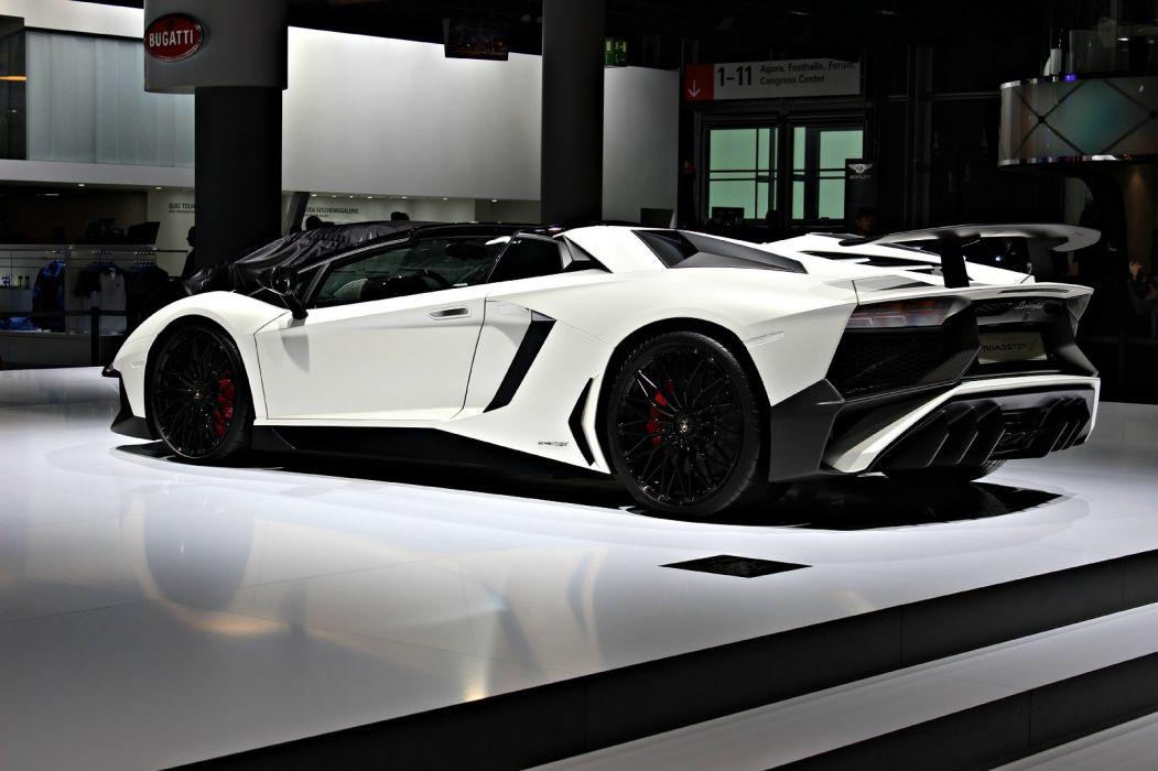 2016 Aventador white Lamborghini LP750-4 roadster Supercar superveloce wallpaper