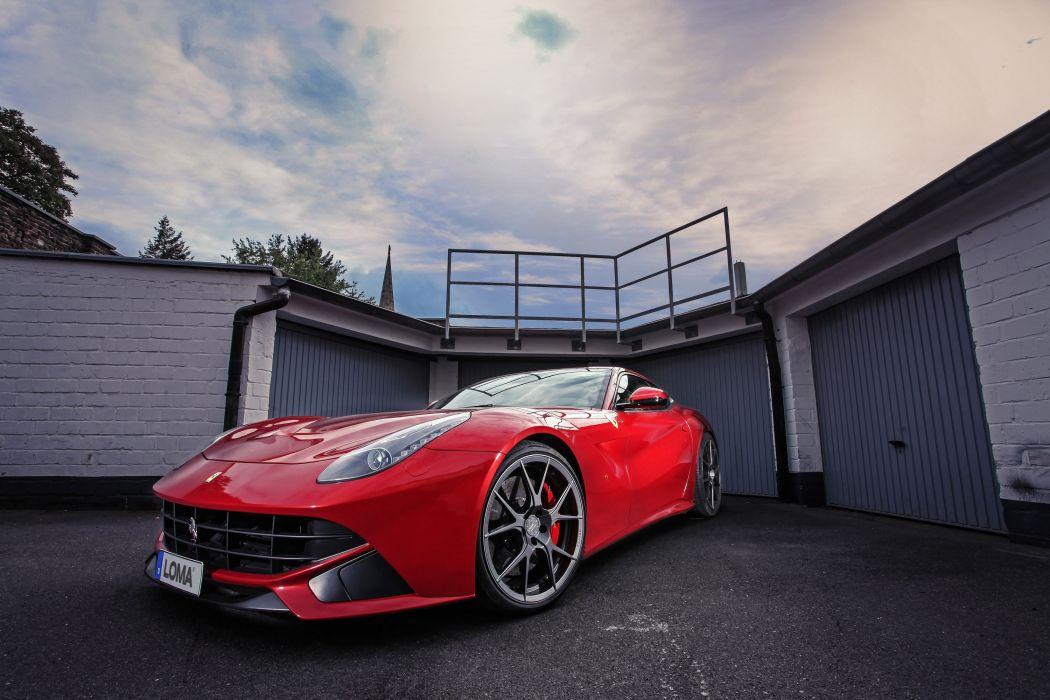 2015 LOMA Ferrari F12 Berlinetta cars coupe red modified wallpaper