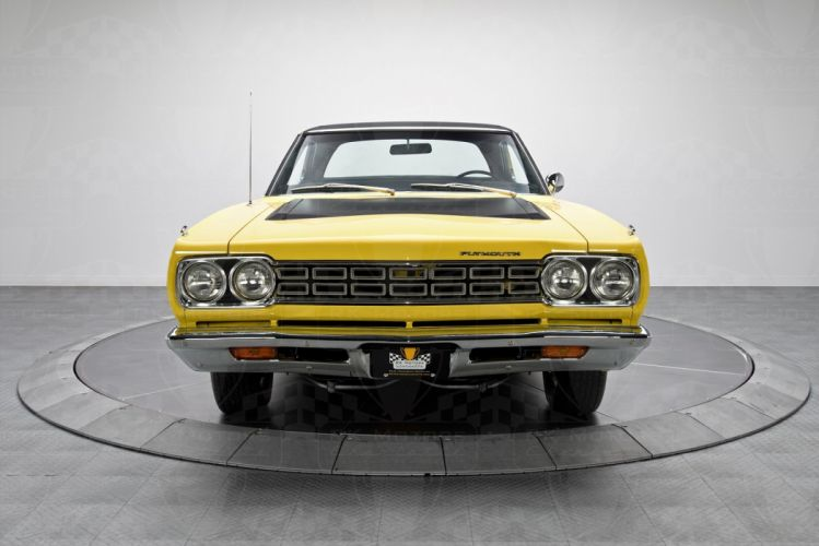 1968 Plymouth Road Runner cars coupe yellow wallpaper