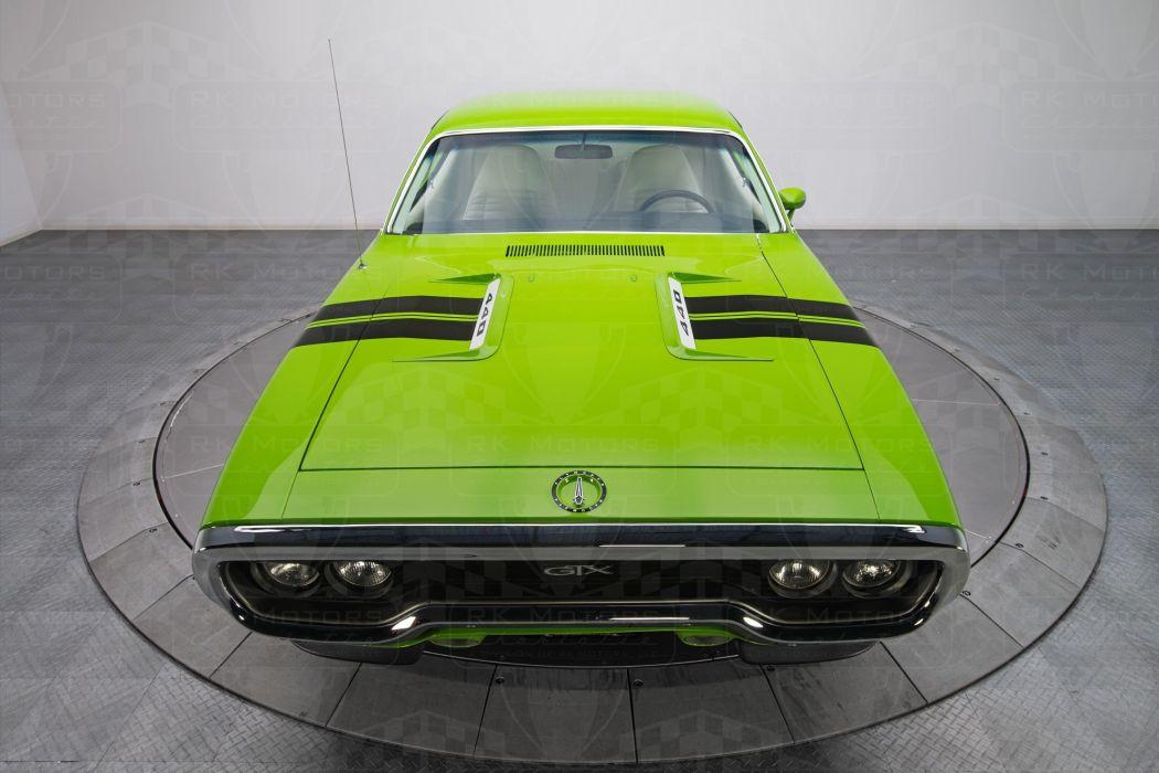 1971 cars Coupe plymouth gtx green wallpaper