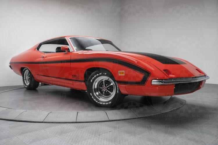 1970 Ford Torino King Cobra cars coupe orange wallpaper