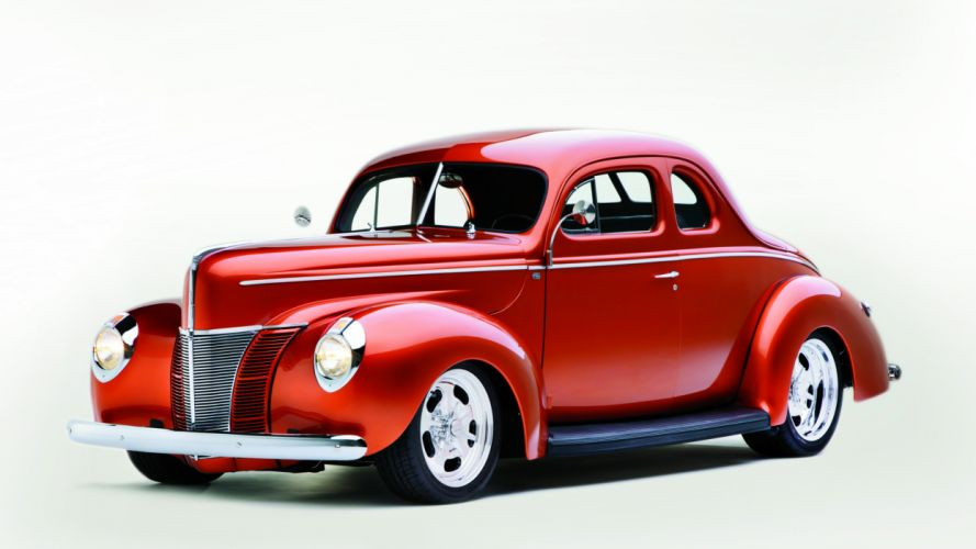 1940 Ford Deluxe Coupe Street Rod Hot Classic Old USA -01 wallpaper