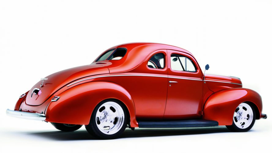 1940 Ford Deluxe Coupe Street Rod Hot Classic Old USA -02 wallpaper