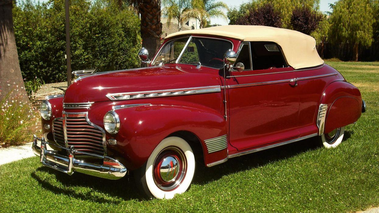 1941 Chevrolet Special Master Deluxe Convertible Classic Old Retro Vintage Original USA -01 wallpaper