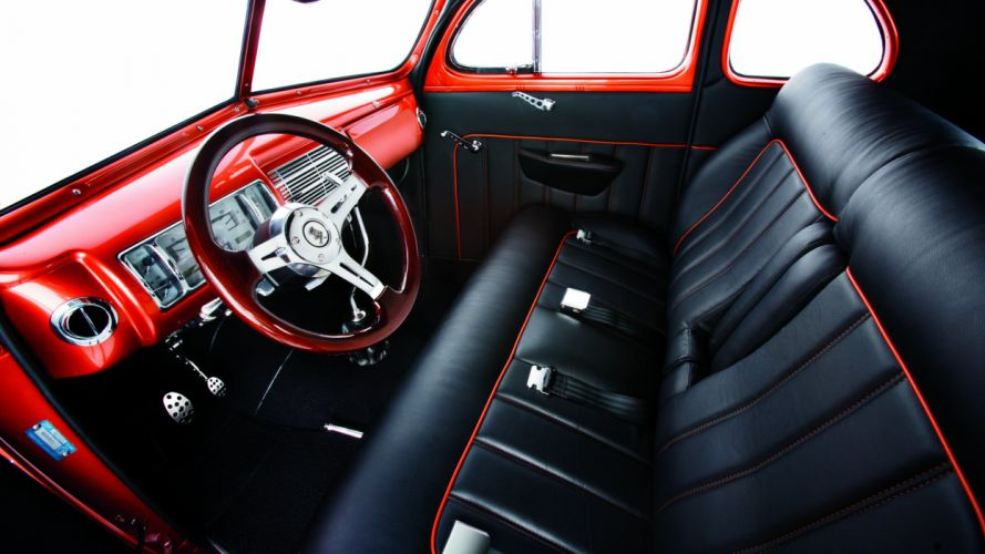 1940 Ford Deluxe Coupe Street Rod Hot Classic Old USA -03 wallpaper