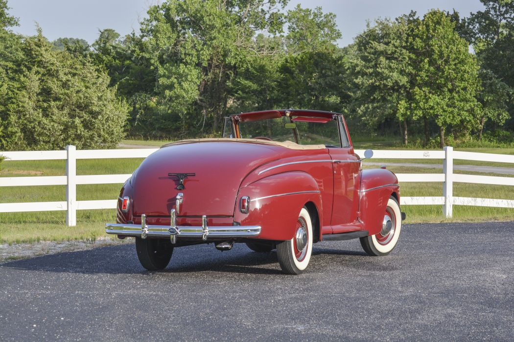 1941 Ford Super Deluxe Convertible Classic Old Vintage Retro Original USA -03 wallpaper