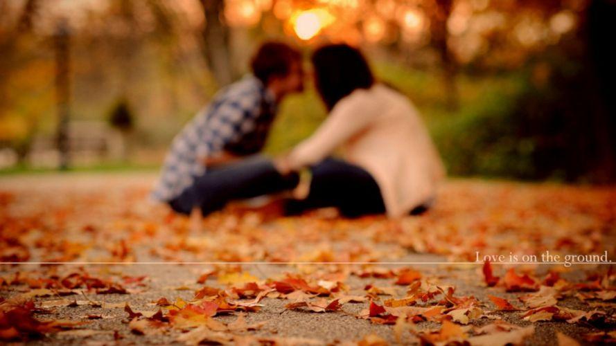 couple love mood people men women autumn wallpaper