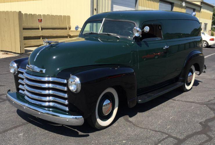1948 Chevrolet 3100 Panel Van Choppedtop Custom Old School Hot Rod Low -04 wallpaper
