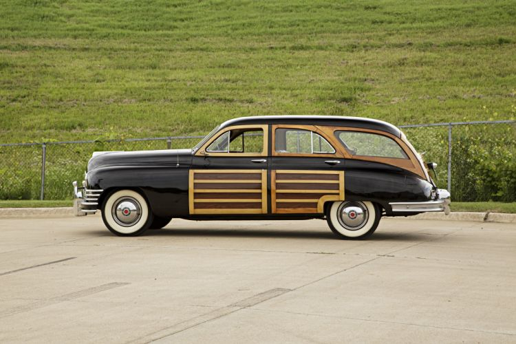 1948 Packard Woody Station Wagon Classic Old Vintage Retro Original USA -02 wallpaper