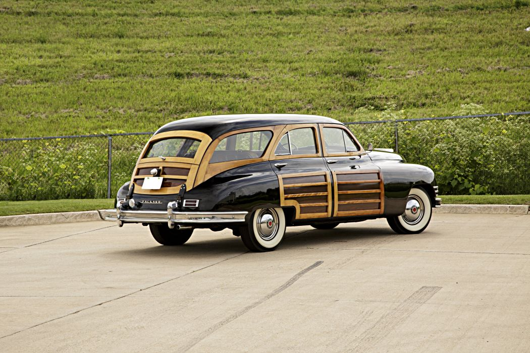 1948 Packard Woody Station Wagon Classic Old Vintage Retro Original USA -03 wallpaper