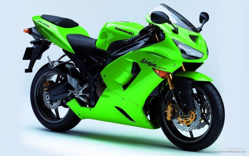 kawasaki zx verde japon moto wallpaper