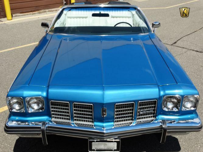 1975 Oldsmobile Delta-88 Royale cars convertible blue wallpaper