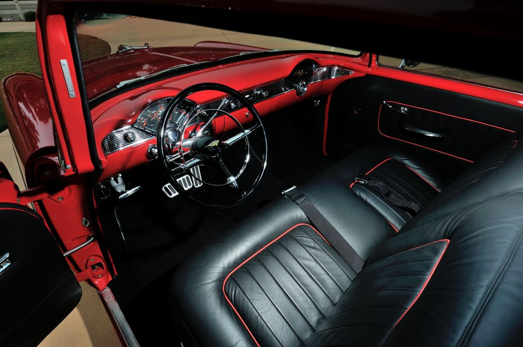 1956 Chevrolet Chevy 210 Coupe Resto Mod Cruiser Streetrod Street Rod USA -04 wallpaper