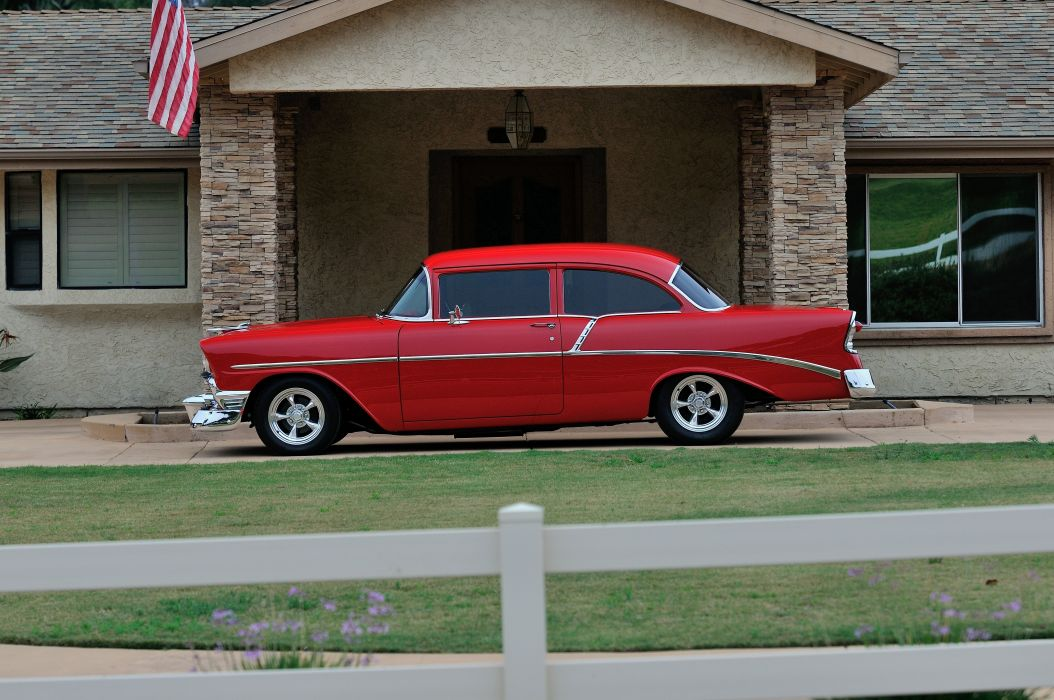 1956 Chevrolet Chevy 210 Coupe Resto Mod Cruiser Streetrod Street Rod USA -02 wallpaper