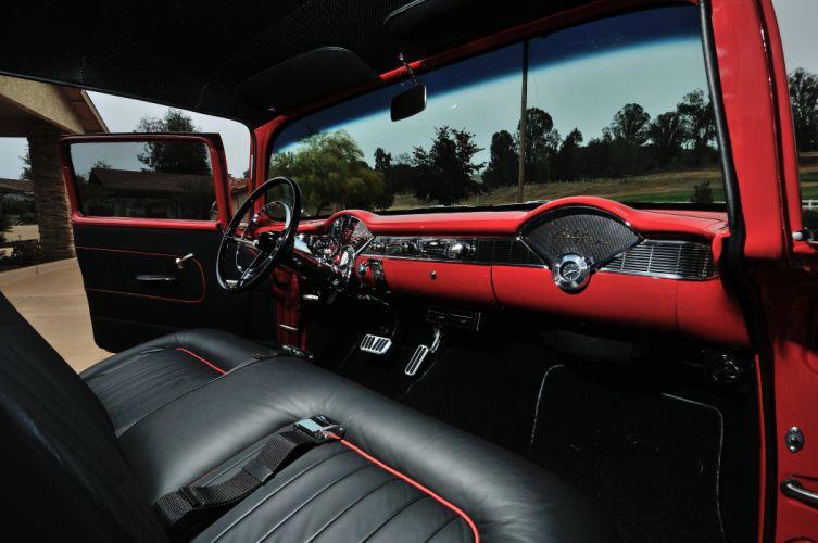 1956 Chevrolet Chevy 210 Coupe Resto Mod Cruiser Streetrod Street Rod USA -05 wallpaper