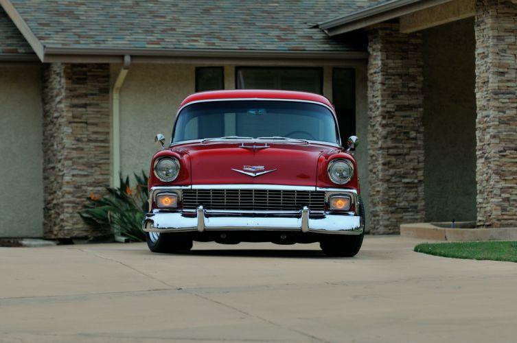 1956 Chevrolet Chevy 210 Coupe Resto Mod Cruiser Streetrod Street Rod USA -07 wallpaper