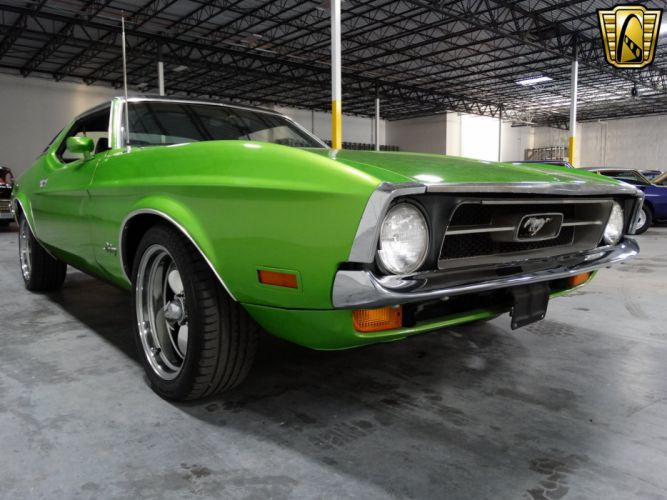 1971 Ford Mustang Grande cars green wallpaper