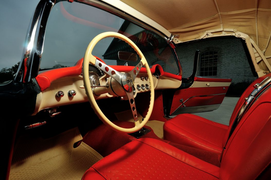 1956 Chevrolet Corvette Convertible Classic Old Retro Vintage Sport USA -04 wallpaper