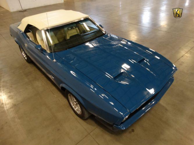 1972 Ford Mustang Grande cars blue wallpaper