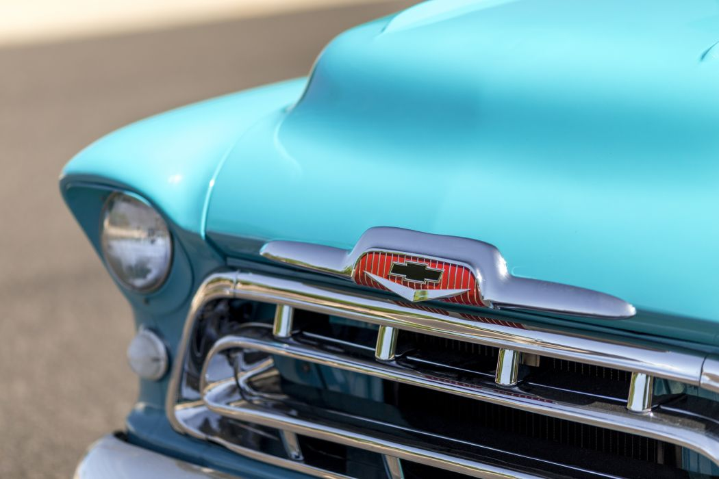 1957 Chevrolet Chevy 3100 Pickup Stepside Classic Old Vintage Retro Original USA -03 wallpaper