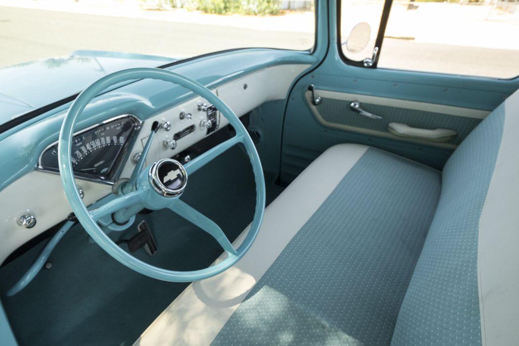 1957 Chevrolet Chevy 3100 Pickup Stepside Classic Old Vintage Retro Original USA -06 wallpaper