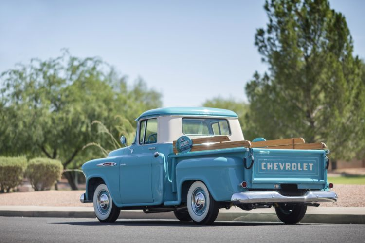 1957 Chevrolet Chevy 3100 Pickup Stepside Classic Old Vintage Retro Original USA -04 wallpaper