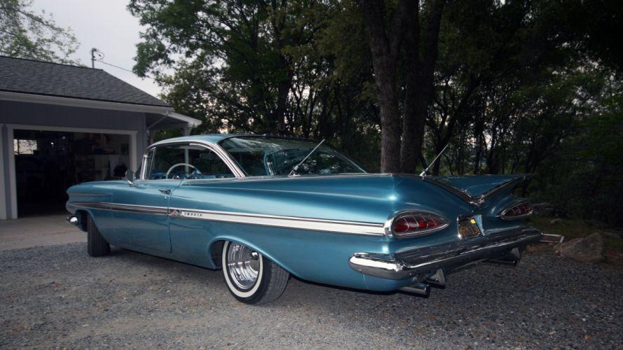1959 Chevrolet Chevy Impala Coupe Hardtop Custom Resto Mod Street Rod Hot USA -02 wallpaper