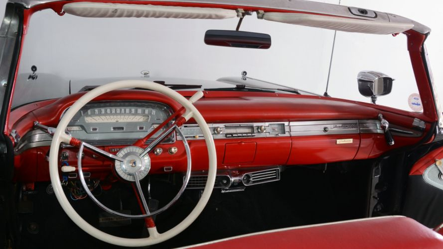 1959 Ford Fairlane 500 Skyliner Convertible Classic Old Vintage Old Original USA -02 wallpaper