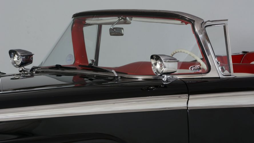 1959 Ford Fairlane 500 Skyliner Convertible Classic Old Vintage Old Original USA -06 wallpaper