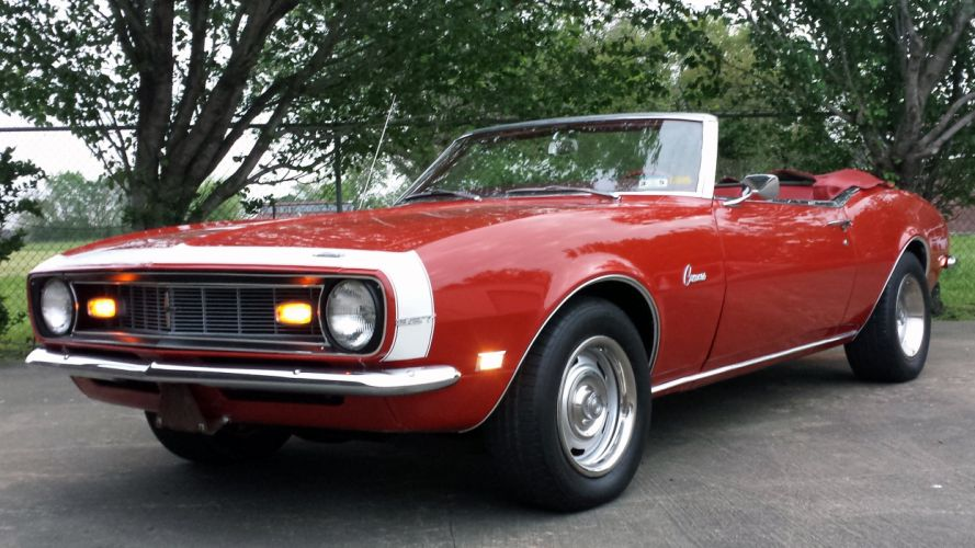 1968 Chevrolet Chevy Camaro 327 Convertible Muscle Classic Old Original USA -01 wallpaper