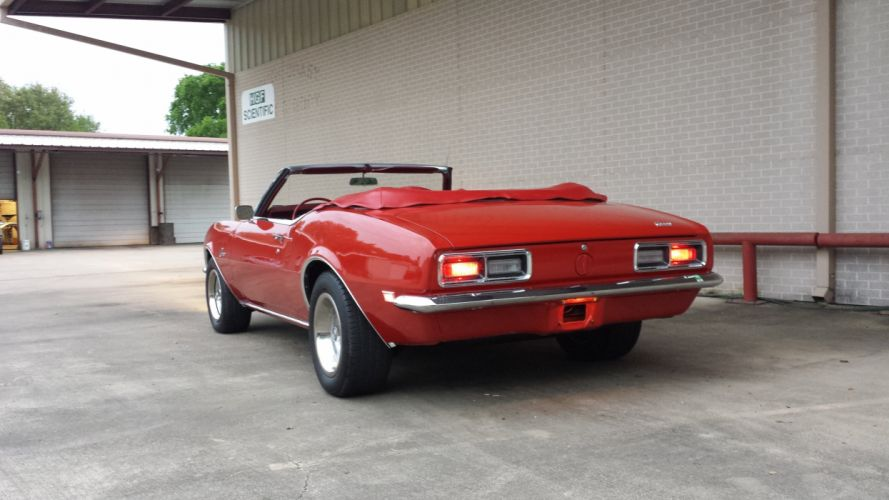 1968 Chevrolet Chevy Camaro 327 Convertible Muscle Classic Old Original USA -04 wallpaper