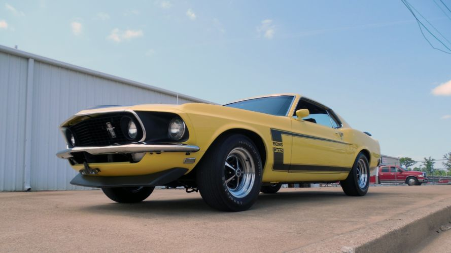 1969 Ford Mustang Boss 302 Fastback Muscle Classic Old Original USA -01 wallpaper