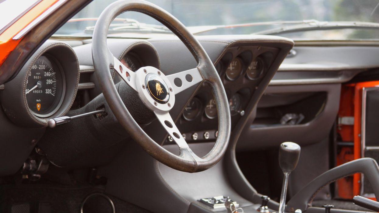 1969 Lamborghini Miura P400-S Exotic Classic Supercar Italy -05 wallpaper