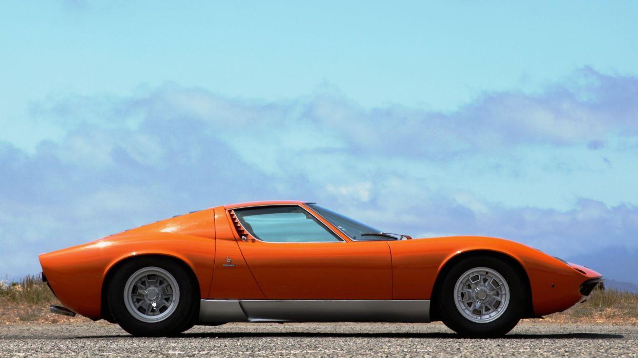 1969 Lamborghini Miura P400-S Exotic Classic Supercar Italy -11 wallpaper