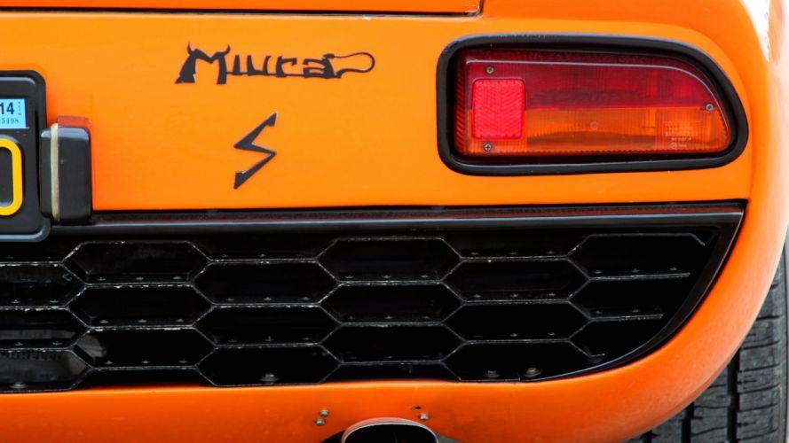 1969 Lamborghini Miura P400-S Exotic Classic Supercar Italy -16 wallpaper