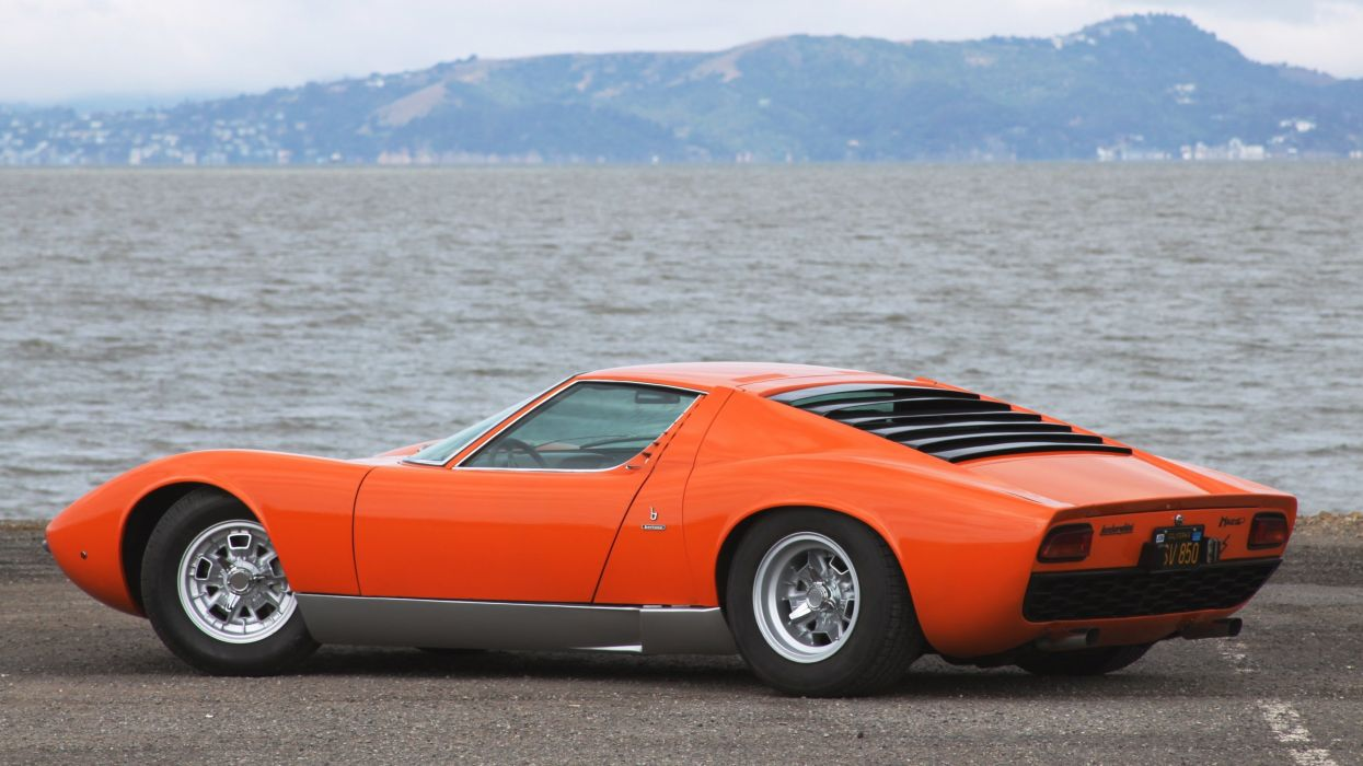 1969 Lamborghini Miura P400-S Exotic Classic Supercar Italy -20 wallpaper