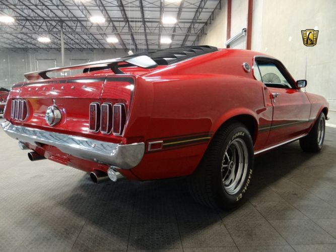 1969 Ford Mustang Mach-1 cars coupe red wallpaper