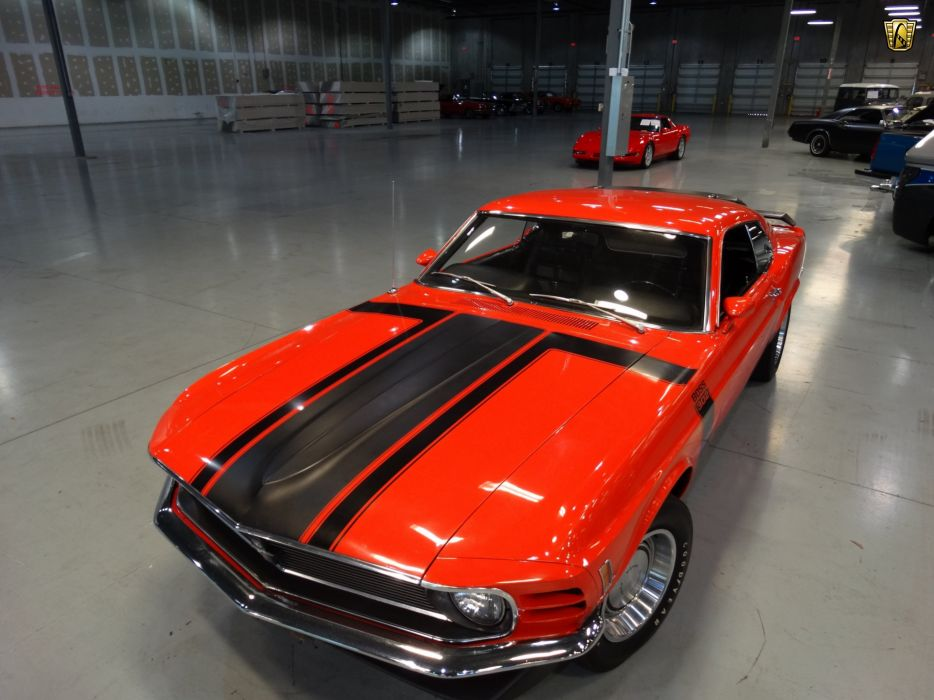 1970 Ford Mustang boss 302 cars coupe orange wallpaper