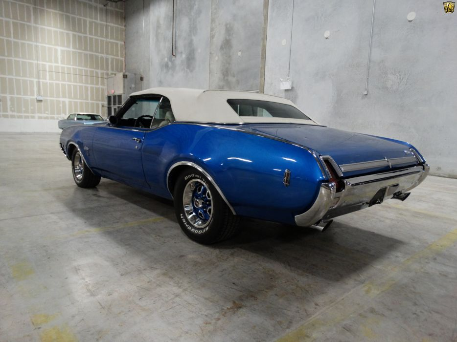 1969 Oldsmobile Cutlass convertible cars blue wallpaper