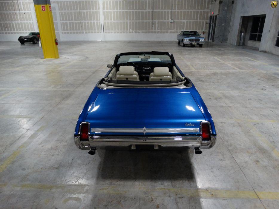 1969 Oldsmobile Cutlass convertible cars blue wallpaper