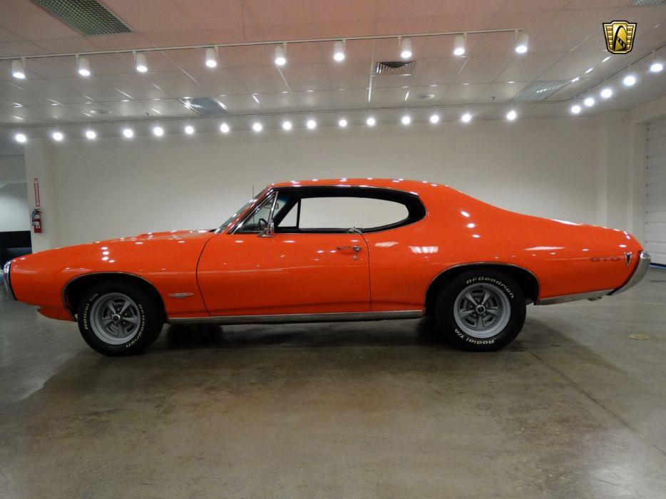 1968 Pontiac GTO coupe cars orange wallpaper