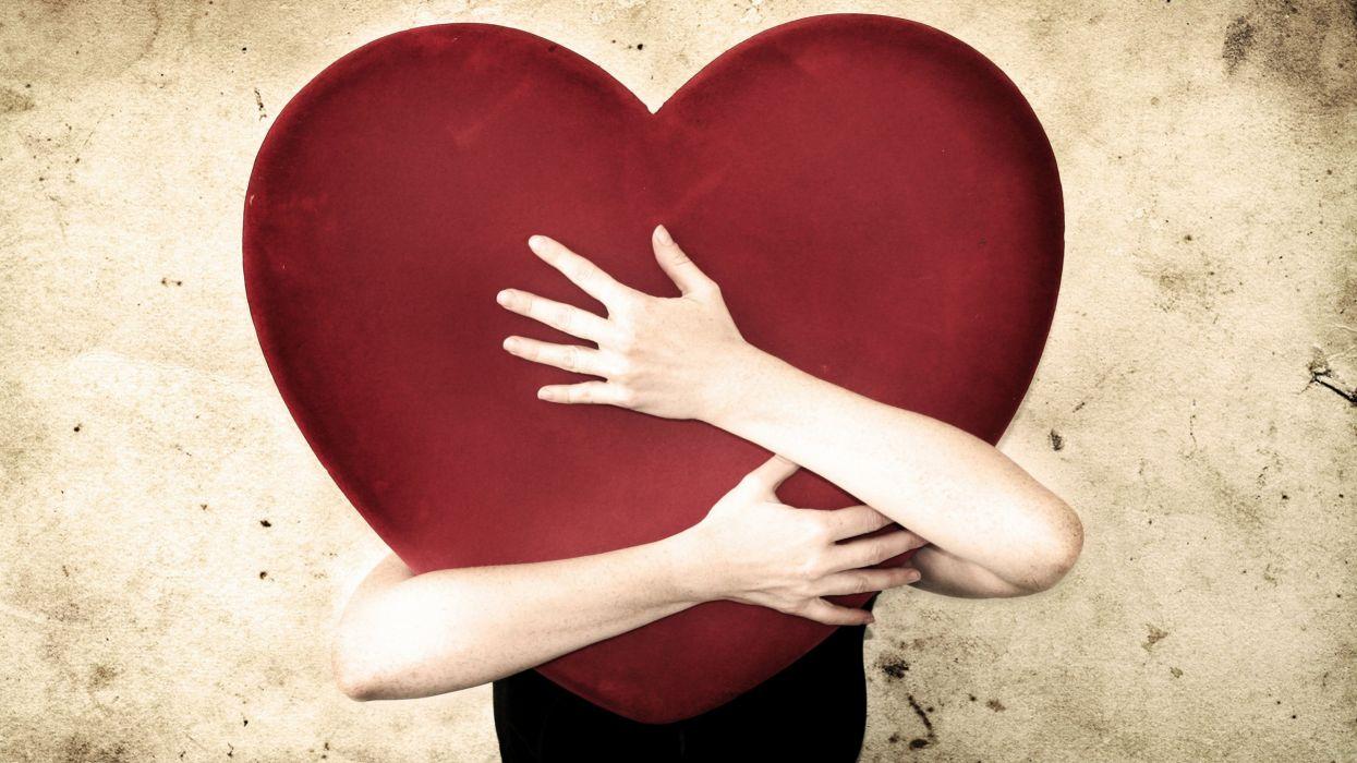 hug hugging couple love mood people men women heart wallpaper